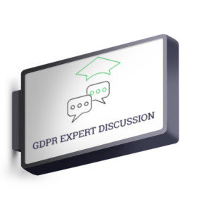 Lighted Signage with black and green letters GDPR Expert Discussion