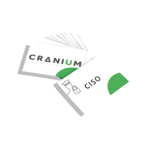 White and green CRANIUM Business Essentials CISO business cards